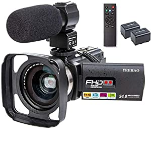 Flashandfocus.com 51BbIR%2Bc9PL._SS300_ Camcorder Video Camera YEEHAO WiFi HD 1080P 24MP 16X Powerful Digital Zoom Camera with Microphone and Wide Angle Lens…