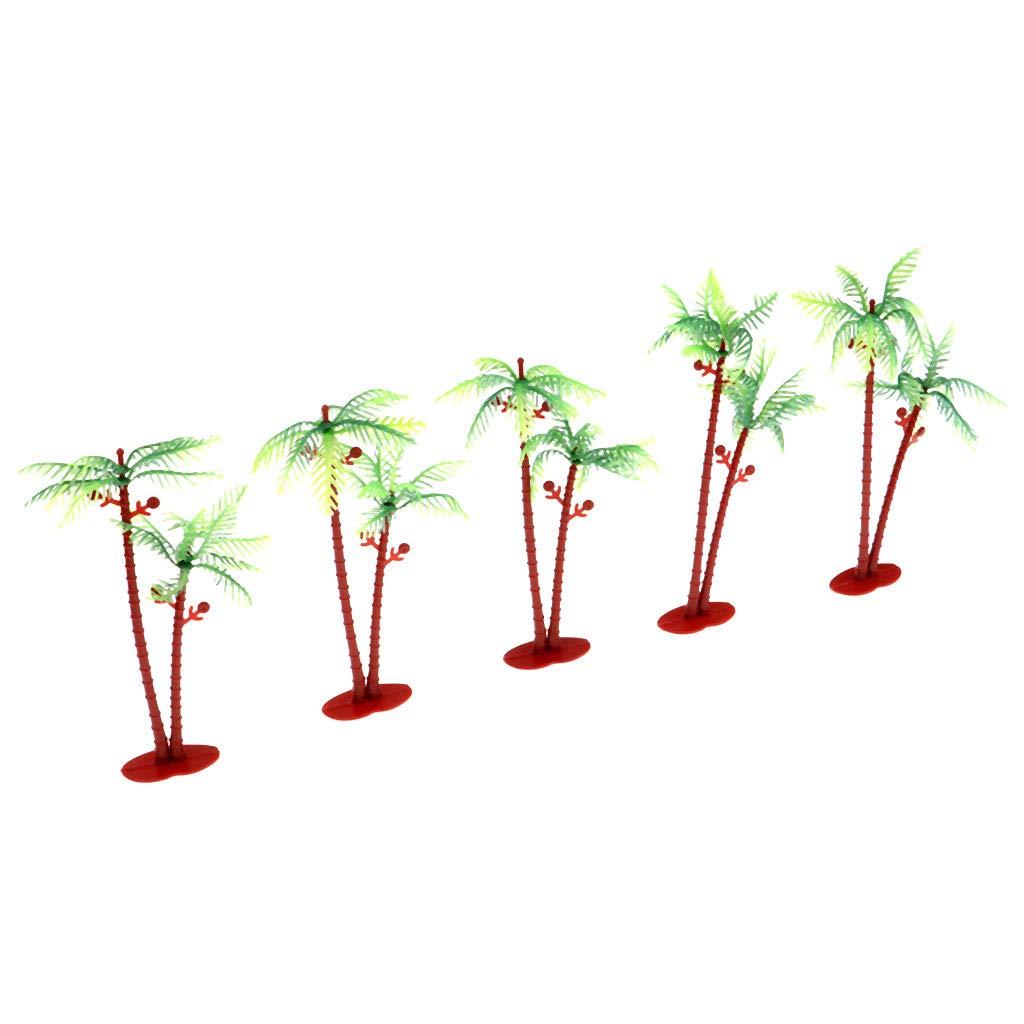 FLAMEER Mini Modelo Árboles Coco Verde para Modelismo Ferroviario ...