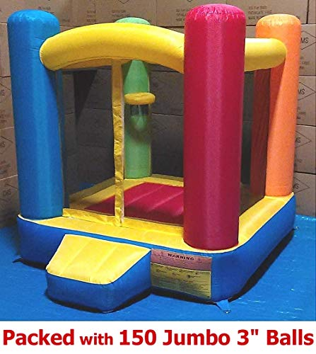 New-Improved-Little-Castle-Bounce-House-Best-for-Kids-Age-16-Perfectly-Sized-for-Indoor-or-Outdoor-Use