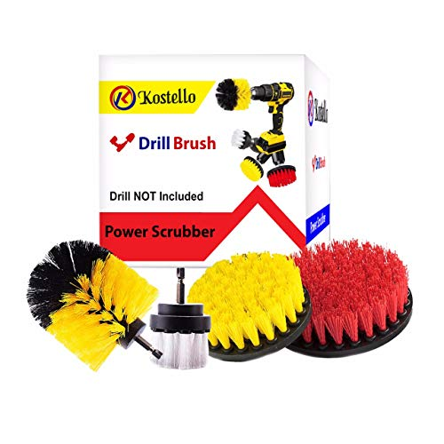 Drill Brush Attachment - Drill Brush Power Scrubber - Bathroom Surfaces Tub - Shower - Tile and Grout Power Scrubber Cleaning Kit - Drill Brush Set