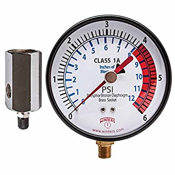 winters pgtk314cm low pressure test gauge with economy. Black Bedroom Furniture Sets. Home Design Ideas