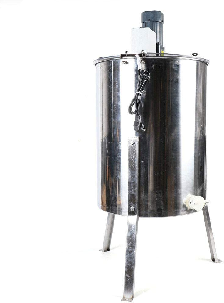 Electric Honey Extractor 4 frames Stainless Steel Radial Honey Extractor for Beekeeping Bee Harmony with Lid Beekeeper Tool