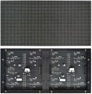 Indoor full color led module P5 320mmx160mm 64x32dots 3528led lamp 1/8 scan indoor rgb full color hub75 SMD p5 led display module