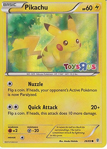 PIkachu - 26/83 - Toys R Us Promo - Pokemon Promos (Promo Toy Card)