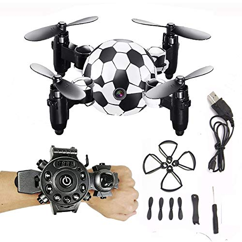 (ElevenY Mini Watch WiFi 8.0MP HD Camera Drone,Traveler Beginner Drone with Optical Anti-Shake HD Altitude Hold Stable Quadcopter , One Key to Return Easy Fly for Kids Adults )
