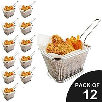Mejor utensilios Chips Fry cestas Mini cesta de la freidora de acero ...