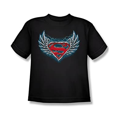 Superman Stahl Wings Logo Youth T Shirt In Schwarz Amazonde