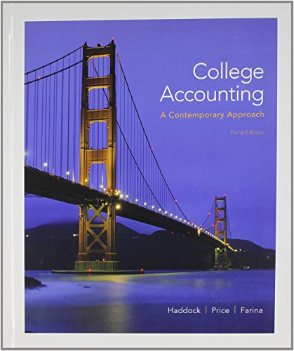College Accounting (A Contemporary Approach) with Connect Plus