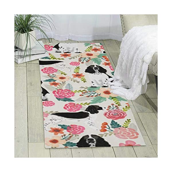 "Elizadaisy English Springer Spaniel Hunting Dog Indoor Area Rugs Home Decor Rug Mats Living Room Bedroom Floor Carpet Rugs 70.9"" X 23.6"" 1"
