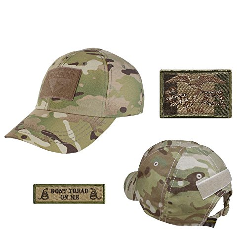 US State Operator Cap Bundle - With State & Dont Tread On Me Patches - Iowa