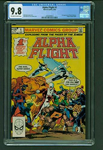 Alpha Flight 1 CGC 9.8 Marvel Comics 1983 1st Puck & Marrina