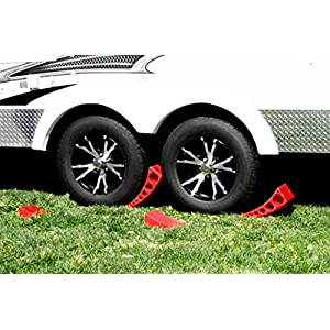 Andersen Hitches 3604 x2 PLUS 2 Authentic Andersen Hitches Rubber Mats to Prevent Slipping on Grass, Concrete, Sand | 2-Pack Camper Leveler & Chock Set | Best Camper Leveling Kit | RV Leveling