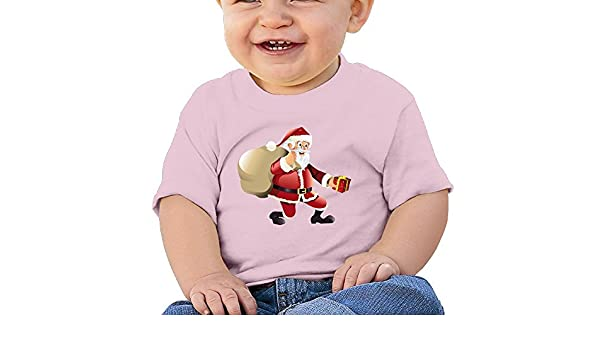 FFWWLHR Christmas Santa Claus Baby Top T Shirt Unisex Fashion Merry Christmas Cotton Baby Toddler T Shirt Tops