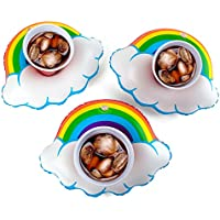 3-Pack BigMouth Inflatable Happy Rainbow Drink Float
