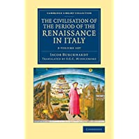 The Civilisation of the Period of the Renaissance in Italy 2 Volume Set