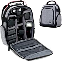 USA Gear Compact Digital Camera Backpack (Gray) with...