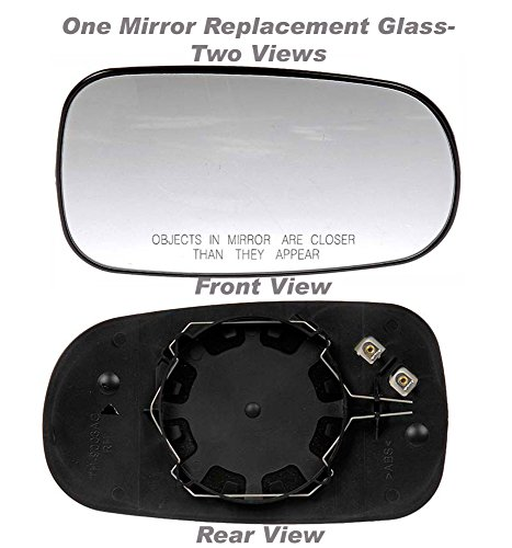 apdty-67810-replacement-mirror-glass-fits-right-passenger-side-2003-2009-saab-9-3-replaces-12-795-61
