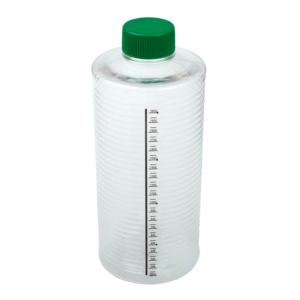 Celltreat 229386 1900cm² ESRB Roller Bottle, Tissue Culture Treated, Printed Graduations, Non-Vented Cap, Sterile (case of 12)