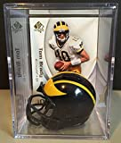 Michigan Wolverines NCAA Helmet Shadowbox w/ Tom