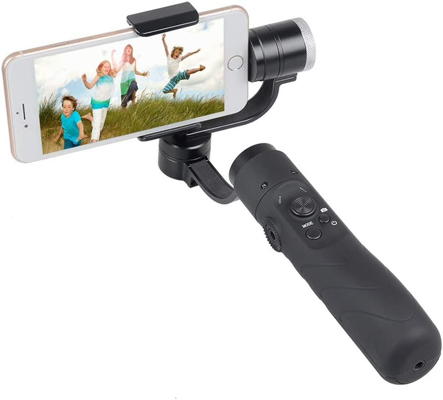 with Bluetooth Huanxin 3-Axis Gimbal Stabilizer for 3.5-6.1 Inch Mobile Phone with Sport Inception Mode Face Object Tracking Motion Time-Lapse