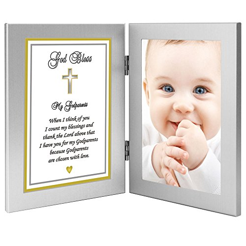 Gift for Godparents from Godchild for Baptism, Christening - Add Photo to Frame by Poetry Gifts