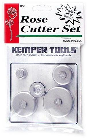 Kemper Rose Cutter Set [2 Pieces] *** Product Description: Kemper Rose Cutter Set- Unit: Set Of 5This Set Consists Of Five Round Cutters And Instructions For Use.The Cutters Are Used In The Same Manner As A Cookie Cutter On Rolled-Out Clay To Mak ***