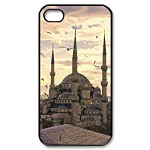 IPhone 4/4s Case the Blue Mosque in Istanbul for Teen Girls Protective, Iphone 4 Cases for Teen Girls Cute Jumphigh, [Black] by ruishername