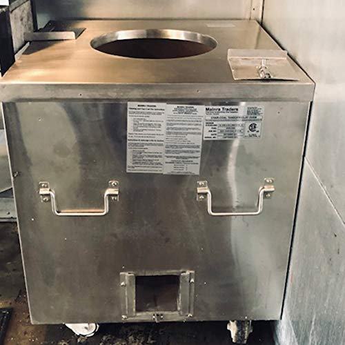 (MAINRA TRADERS Gas Tandoor - CSA GAS CERTIFIED/CHAR-COAL CERTIFIED/(NSF/ANSI(Health Certified) -Restaurant Tandoor Oven 32 x 32 37- Commercial Tandoor Mouth 16)