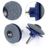 2Pcs Grinding Drill Sharpener Lawnmower Faster Rotary Drill Blade Sharpener Grinding Tool Garden Lawn Mower Parts