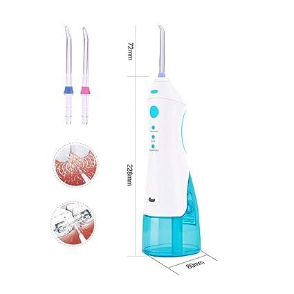Agua Irrigador, Portátil Inalámbrico Pulso Dental Oral 220Ml Agua Jet Dientes Limpiador Dispositivo Con 2