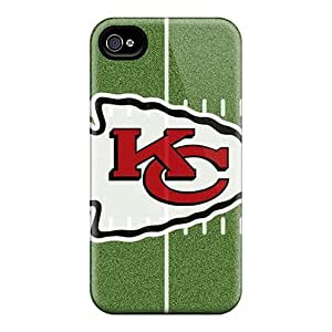 Hot Snap-on Kansas City Chiefs Hard Cover Case/ Protective Case For Iphone 4/4s