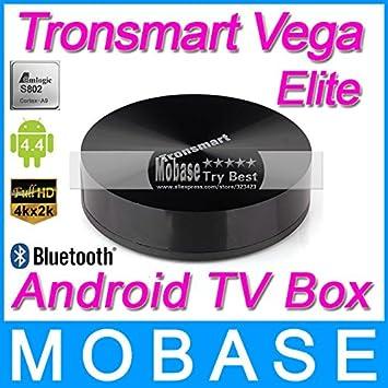 WiFi Receptor Smart TV Box TV MU Tronsmart Vega S89 Elite Amlogic S802 Quad Core 2GHz Android 2G / 8G Mali450 GPU 4K HDMI Bluetooth: Amazon.es: Electrónica