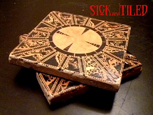 Puzzle Box Tumbled Marble Coasters Set of 2 Hellraiser Inspired Gifts