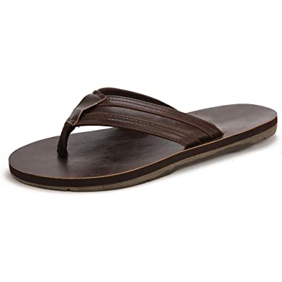 8cf36b050 ALEADER Men s Classic Rubber Flip Flops Soft Casual Travel Shower Beach  Sandals