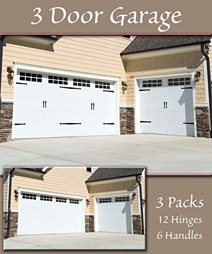 Household Essentials 240 Hinge It Magnetic Decorative Garage Door Accents | Black