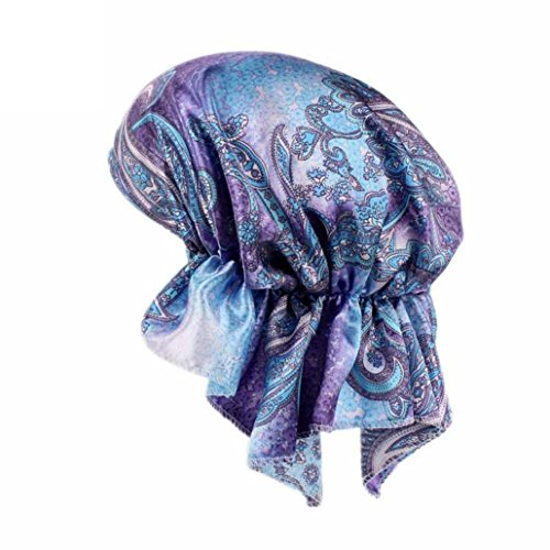 Mchoice Women Printing Cancer Chemo Hat Beanie Scarf Turban Head Wrap Cap (Cancer Adjustable Hat)