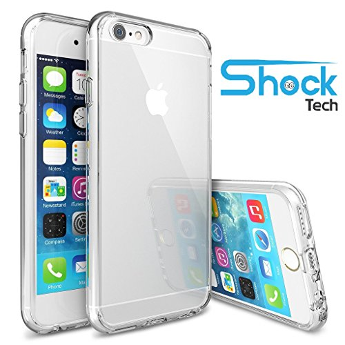 iPhone 6 Case, Shock Tech iPhone 6s Case 4.7 Inch Soft Transparent TPU Gel [Crystal Clear] [Slim Fit] [1mm Ultra Thin] Silicone Protective Skin for iPhone 6s / iPhone 6 (Transparent)
