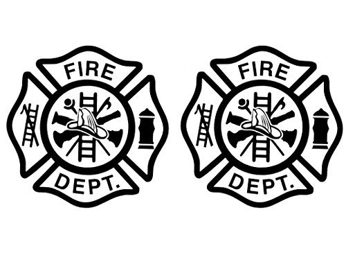 Fusible Decal - Firefighter's Maltese Cross 2-7/8