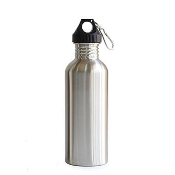lanyuer 500 ml 17oz Plástico Cap petaca de acero inoxidable ...