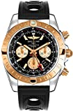 Breitling Chronomat 44 GMT Men's Watch w/ Ocean Racer Black Rubber Strap CB042012/BB86-200S