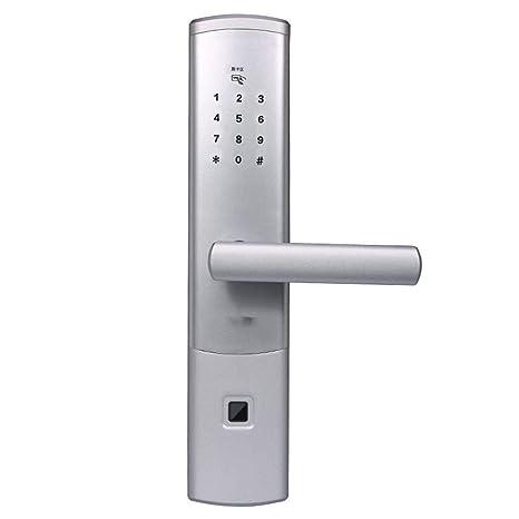 Lxj Huella Digital Remoto Inteligente de contraseña Bloqueo Seguridad Interior Puerta Cepillo de Dientes Azul Tarjeta