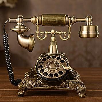Vintage Retro Teléfono Dial giratorio tocadiscos antiguo ...