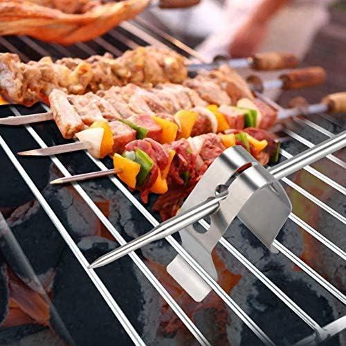 3 PCS Barbecue Sonde Clip 3-Trou Barbecue Thermomètre Sonde Fixation Clip Support Cuisine Barbecue Four Grill Accessoire en Acier Inoxydable