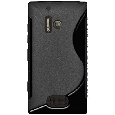 Amzer Dual Tone TPU Hybrid Skin Fit Case Cover for Nokia Lumia 928 - Retail Packaging - Black by Amzer