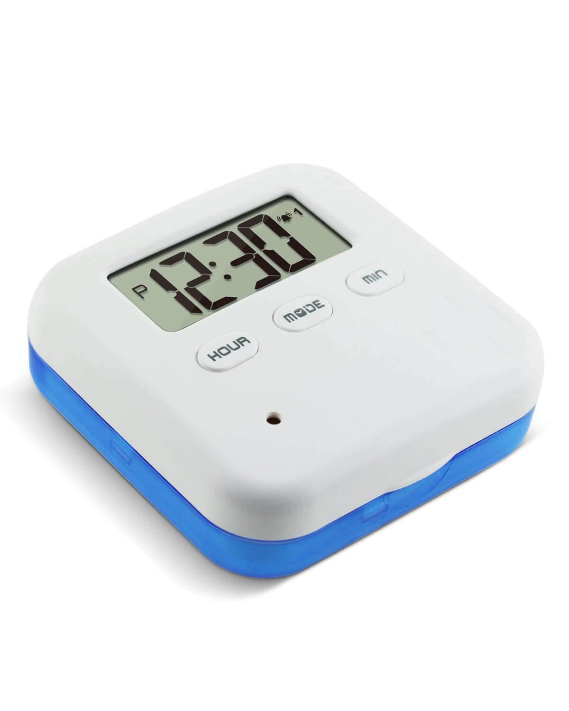 Alarm Pill Box Jusinhel Mini Portable Daily Vitamin/Pills/Medicine Reminder Timer Box...
