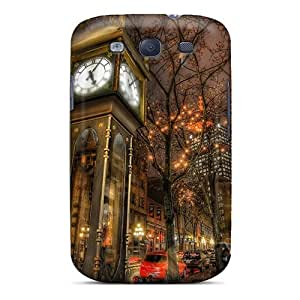 JudithSnow Premium Protective Hard Case For Galaxy S3- Nice Design - City Street In Canada In The Rain Hdr