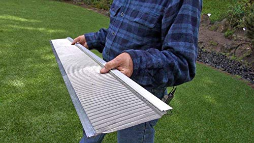 "Raptor Gutter Guard | Stainless Steel Micro-Mesh, Contractor-Grade, DIY Gutter Cover. Fits Any Roof or Gutter Type - 48ft to a Box. Fits a Standard 5"" Gutter."