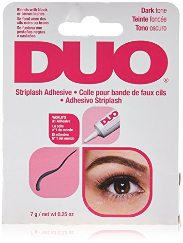 DUO Strip EyeLash Adhesive for Strip Lashes, Dark Tone, 0.25 oz (Best Eyelash Extension Glue On The Market)