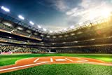 Baseball Hall Backdrop baseball field Stadium Studio Sports School Athletic Student, Printed Fabric Photography Background (G0816, 12' wide by 8' tall)
