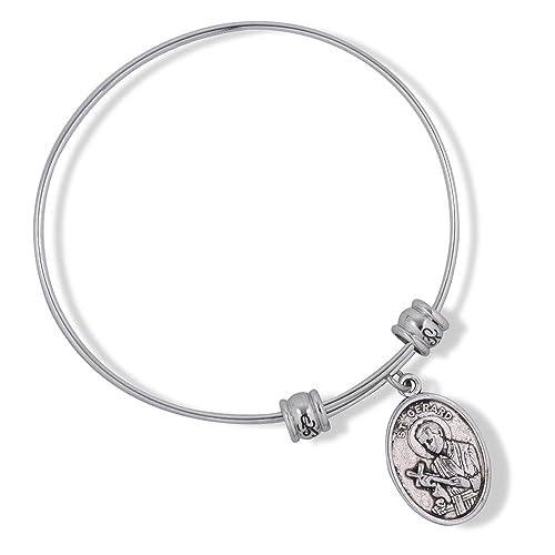 Catholic Gifts St Saint Gerard Fertility Bracelet Bangle Jewelry Religious  Jewelry Bracelet for Women Charm Gifts Catholic Bracelet Bangle for Women